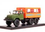 ЗИЛ 131 вахтовый автобус (хаки-оранжевый)