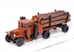 Урал-ЗИС 352Л Лесовоз газогенераторный с роспуском и лесом (коричневый)