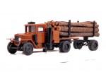 Урал-ЗИС-352Л Лесовоз газогенераторный с роспуском и лесом (коричневый)