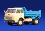 МАЗ 5549 самосвал (бежево-синий)