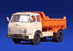 МАЗ 503Б самосвал (бело-оранжевый)