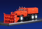 Д-470 шнекороторный снегоуборочный автомобиль на шасси ЗИЛ-157Е (оранжевый)