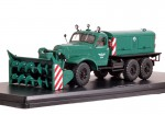 Д-470 шнекороторный снегоуборочный автомобиль на шасси ЗИЛ-157Е (зеленый)